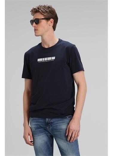 Lufian Timur Modern Grafik T- Shirt  Lacivert